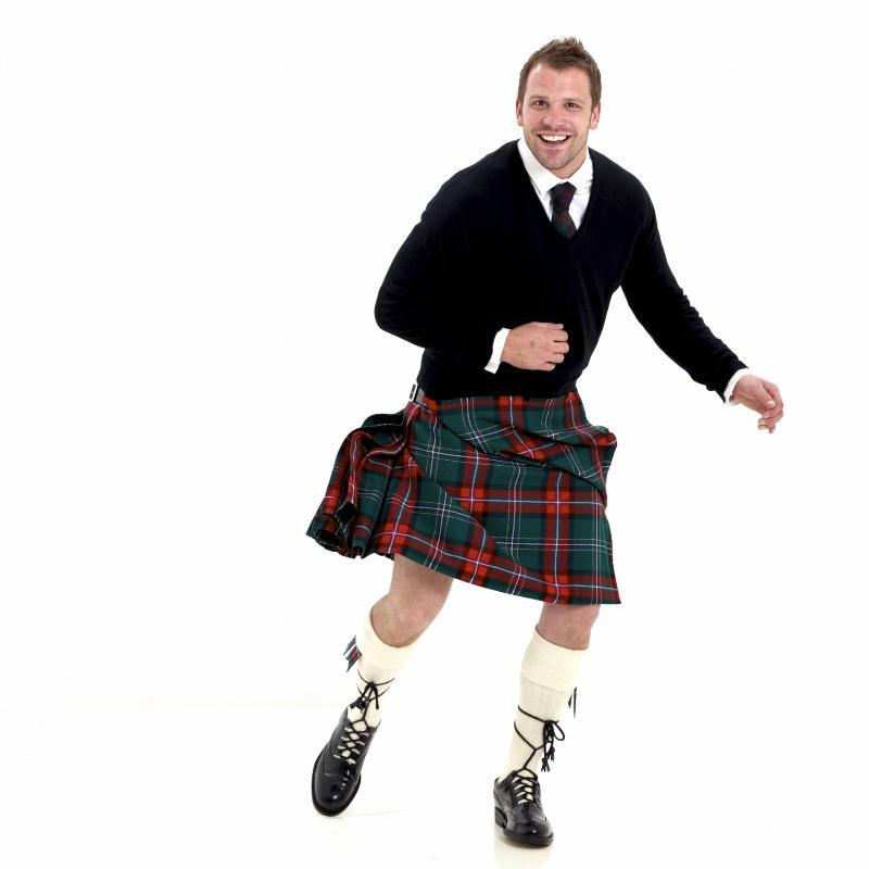 Scottish National Tartan Casual Kilt1