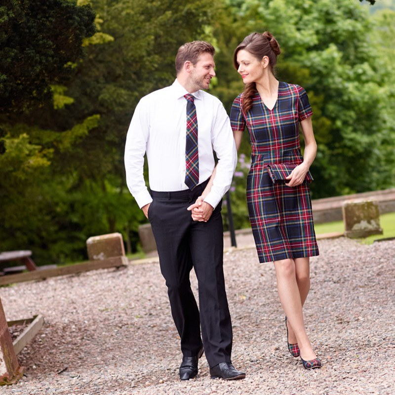 Stewart Black Fitted Dress Couple