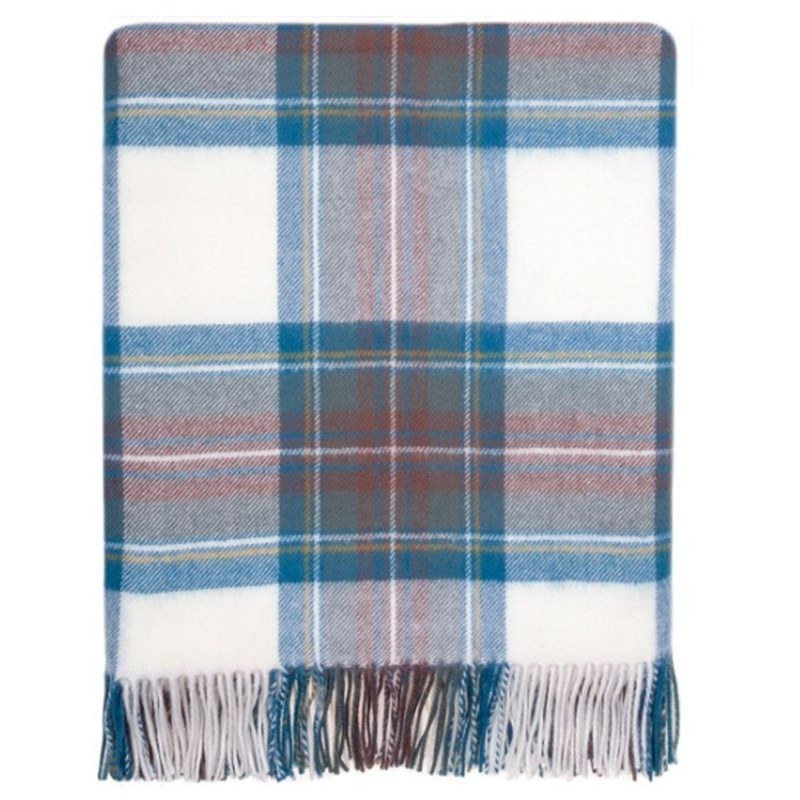 Plaid Serape in Stewart Blue Dress