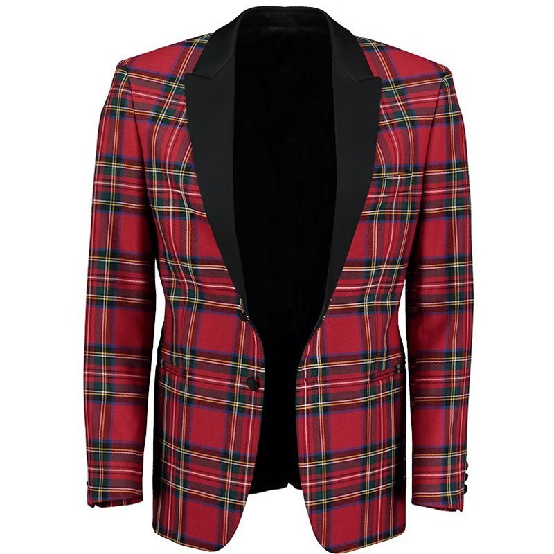 Stewart Royal Tartan Dinner Jacket Open