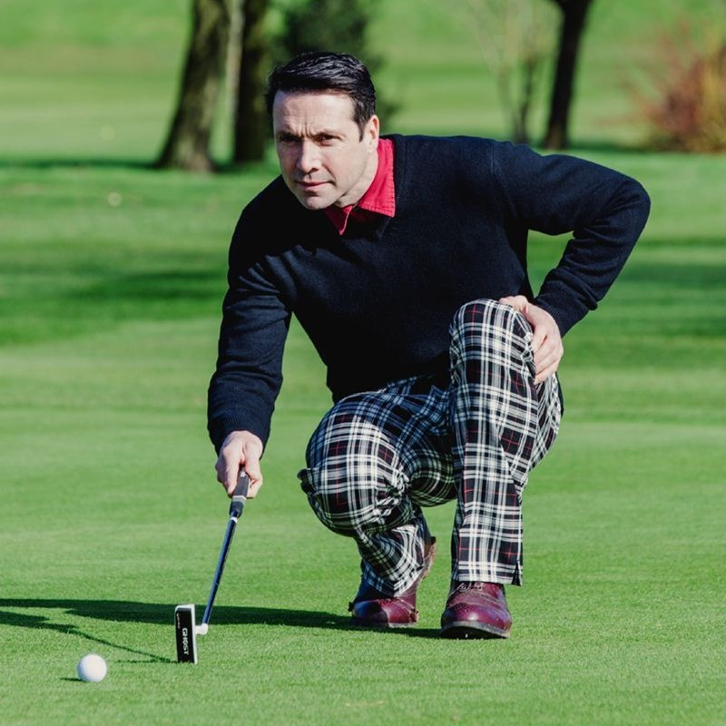 Tartan Golf Trousers Courseshot