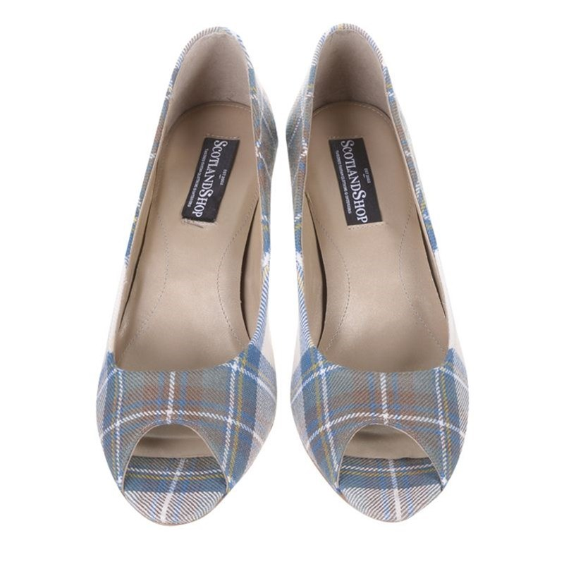 Tartan Peep Toes Stewart Blue Dress