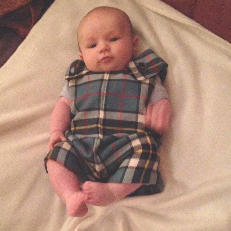 Tartan Romper Suit Baby