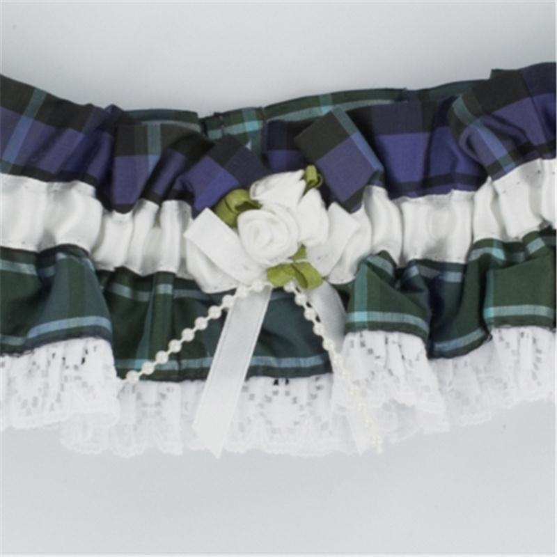 Tartan Wedding Garter Close
