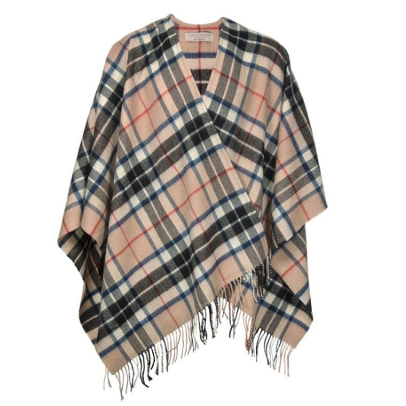 Plaid Serape in Thompson Camel