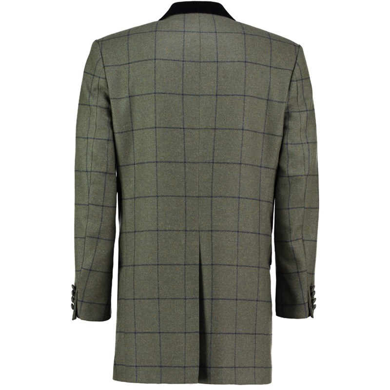 Tweed Mid Thigh Jacket Back