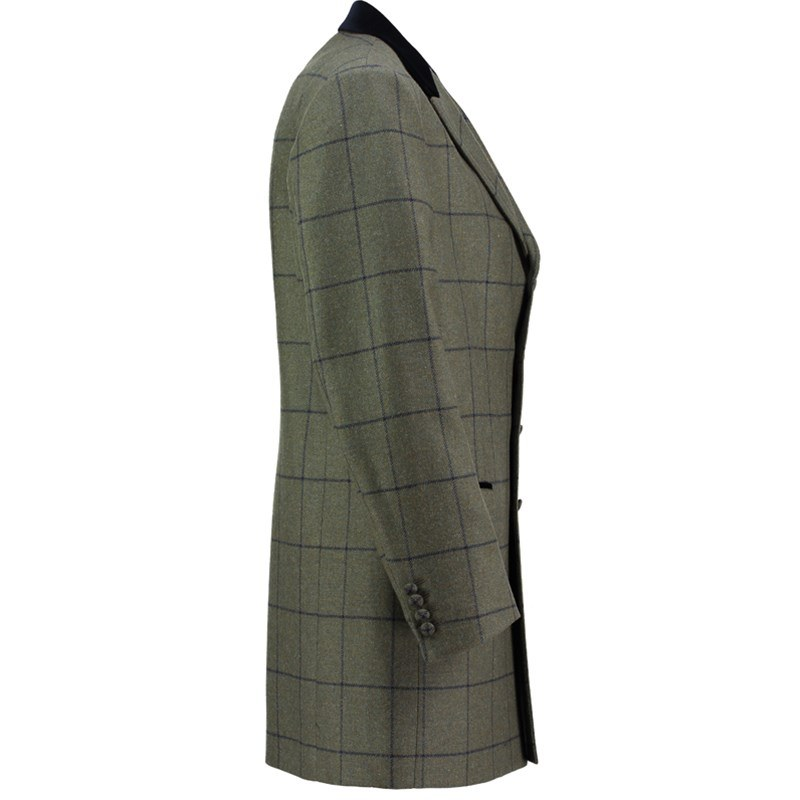Tweed Mid Thigh Jacket Side