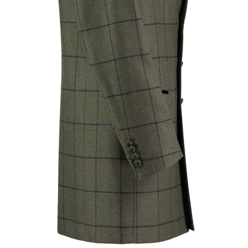 Tweed Mid Thigh Jacket Sleeve