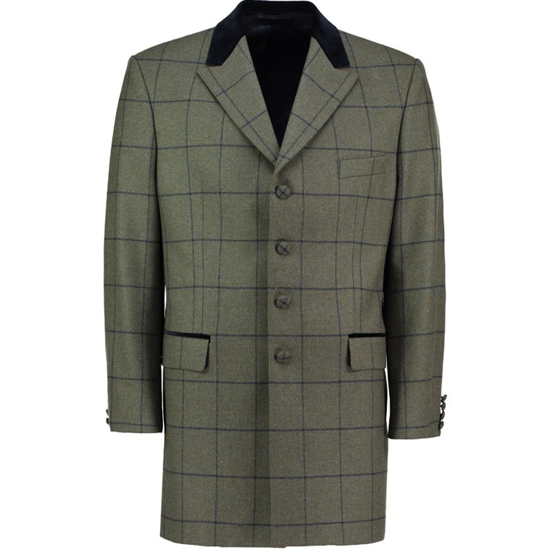 Veste de costume longue en tweed pour homme Made To Order