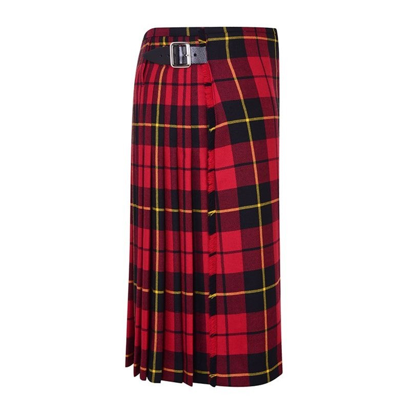 Wallace Modern Tartan Casual Kilt Side