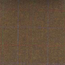 Teviot Rich Brown Herringbone Tweed Check 973