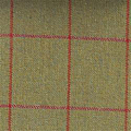 Teviot Green Red Check Tweed 974