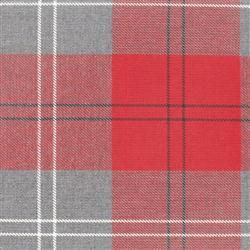 Grey and Red Check PolyViscose BA153T