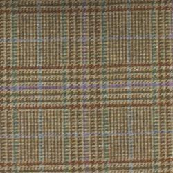 Teviot Brown Purple Check Tweed 977